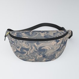 WIRED - abstract design in denim blues Fanny Pack