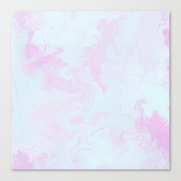 Abstract teal magenta pink watercolor marble pattern Canvas Print
