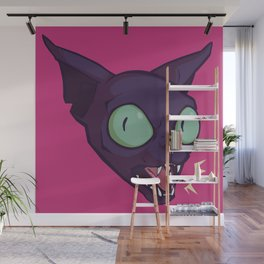 Mad Cat Wall Mural