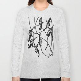 Ink Flowers Design Long Sleeve T-shirt
