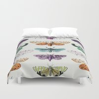 techno Duvet Covers featuring Techno-Moth Collection by Zeke Tucker