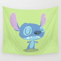 stitch Wall Tapestries featuring Stitch by Rod Perich