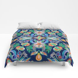 Boho Navy and Brights Comforters