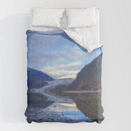 Glacier Mendenhall Juneau, Alaska Comforters