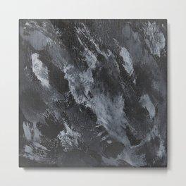 White Ink on Black Background #3 Metal Print