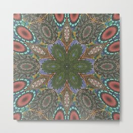 Mandalic Patchwork 2a Kaleidoscope Metal Print