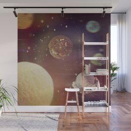 Planets of the iceshapes Wall Mural