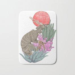 Antelope Illustration Bath Mat