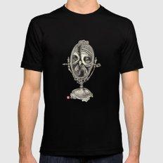 Owl Mirror MEDIUM Black Mens Fitted Tee