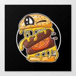 Fast Food FRENZY - Cheezy Sally Canvas Print