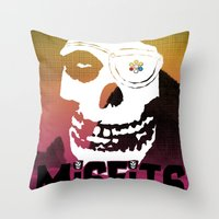 misfits Throw Pillows featuring Misfits always say die... by Geekleetist