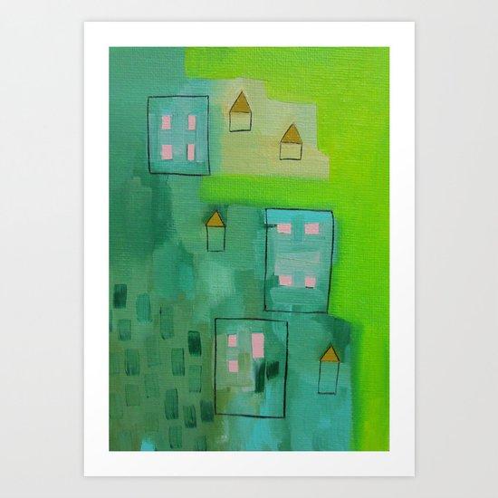 Tiny Houses Art Print