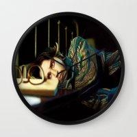 johnny depp Wall Clocks featuring Johnny Depp by ururuty