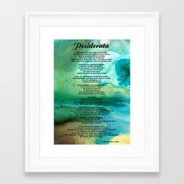 Desiderata 2 - Words of Wisdom Framed Art Print