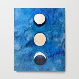 Blue Moons, Minimalist Ethereal Art Print Metal Print