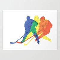 hockey Art Prints featuring Hockey by preview
