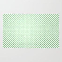 Summer Green Polka Dots Rug