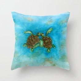 Baby sea buddies Throw Pillow