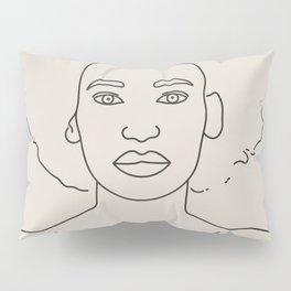 Line Drawing Portrait I Pillow Sham