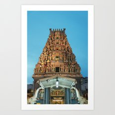 HINDU TEMPLE Art Print