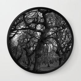 Oak Trees on the March Wall Clock