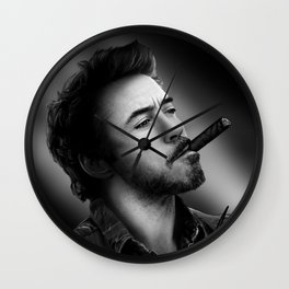 David's Portrait #2 Robert Downey Junior Wall Clock