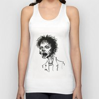 wes anderson Tank Tops featuring Laurie Anderson by Simone Bellenoit : Art & Illustration