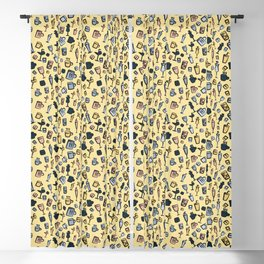 Glass Collection Doodle Pattern Art Blackout Curtain