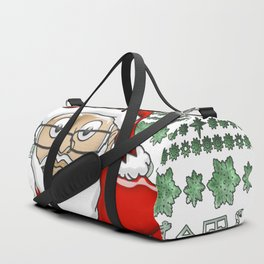 MoCKiNg SaNta Forest Green Background Duffle Bag