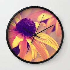 Yellow Flower - Rudbeckia Wall Clock