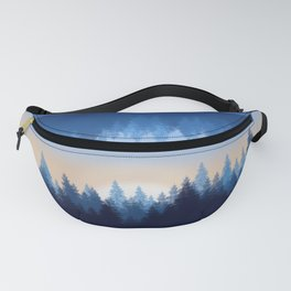 Winter Pines Reflected Fanny Pack