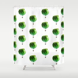 Iceberg Attack Shower Curtain