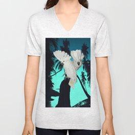 Cockatoo Bird at Sunset A314 Unisex V-Neck