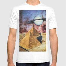 Pyramids Mens Fitted Tee MEDIUM White