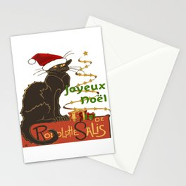 Joyeux Noel Le Chat Noir Christmas Parody Stationery Cards
