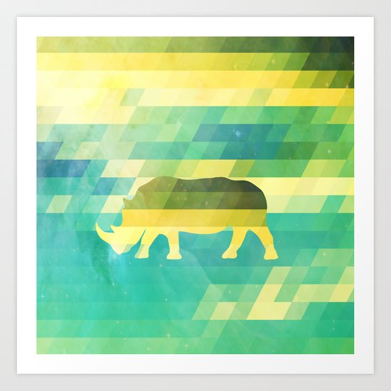 Orion Rhino Art Print