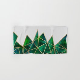 Emerald & Gold Geometric Hand & Bath Towel