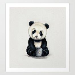 Tea Panda Art Print