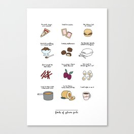 Foods of Gilmore Girls Canvas Print
