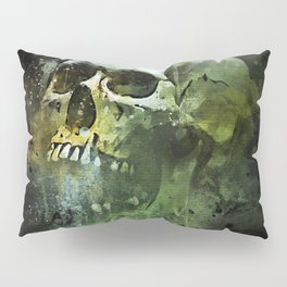 Splashed watercolor skull painting | let's get messy! Pillow Sham