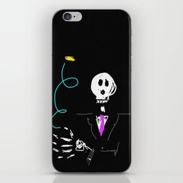 Die trying coin flip iPhone Skin