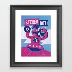 Stereo Bot Framed Art Print