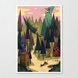 Treebark & Timbird Canvas Print