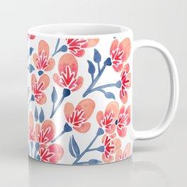 Cherry Blossoms – Melon & Navy Palette Coffee Mug