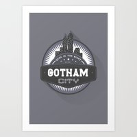 gotham Art Prints featuring Gotham  by Boulinosaure