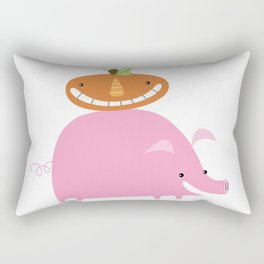 Pig & Pumpkin Rectangular Pillow