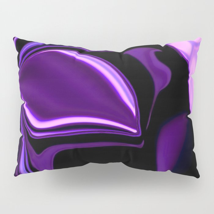 purple tropical flower abstract digital painting Pillow Sham