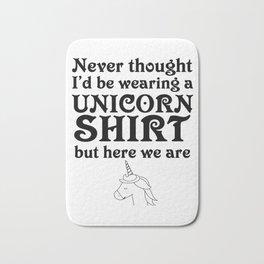 Unicorn sarcasm penalty irony funny gift Bath Mat