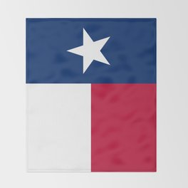 State flag of Texas, official banner orientation Throw Blanket