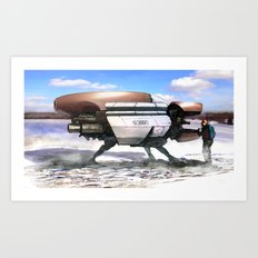Winter shuttle 2154 Art Print